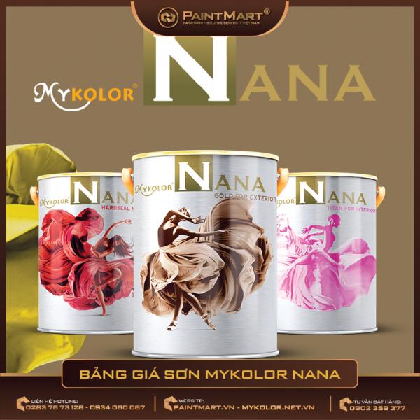 Bảng giá sơn Mykolor Nana 2020 cập nhật mới nhất đến hiện tại