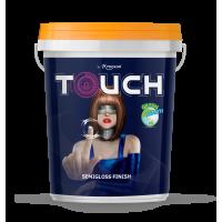 Sơn ngoại thất BÓNG MỊN Mykolor Touch Semigloss Finish 18L