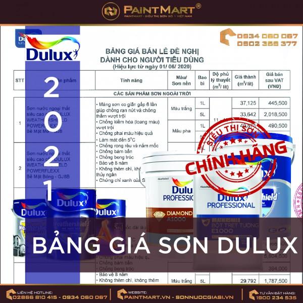 Bảng giá sơn Dulux 2021