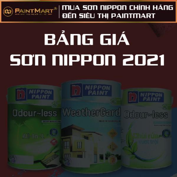 Bảng giá sơn Nippon 2021