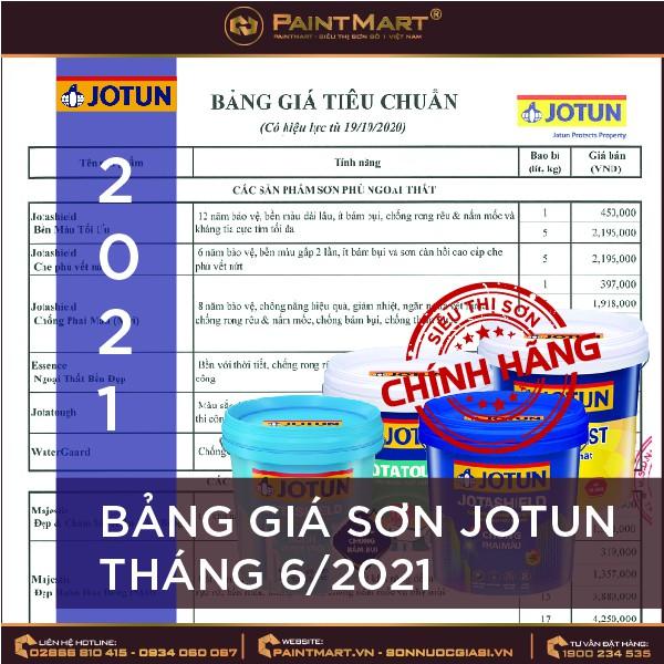 Bảng giá sơn Jotun cập nhật tháng 6/2021