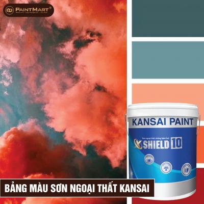 Bảng màu sơn ngoại thất Kansai