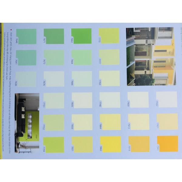 Bảng màu sơn nội thất Toa 4 Seasons