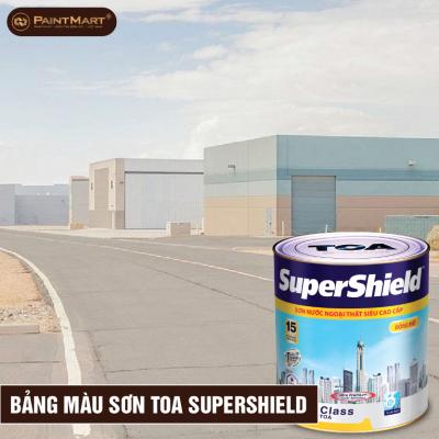 Bảng màu sơn ngoại thất cao cấp Toa Supershield