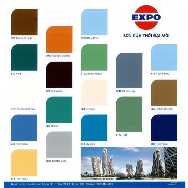 Bảng màu sơn dầu Expo Alkyd
