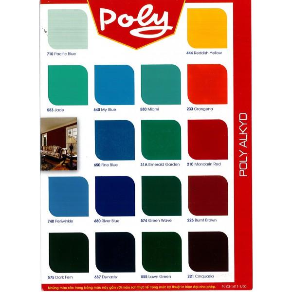 Bảng màu sơn dầu POLY ALKYD