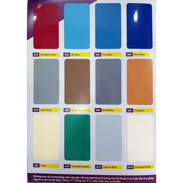 Bảng màu sơn Expo EPOXY 2 IN 1 cho Kẽm
