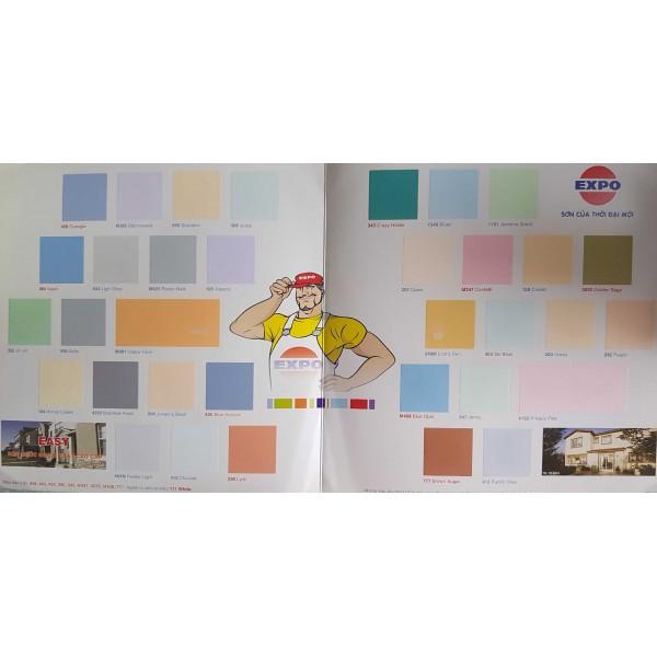 Bảng màu sơn nước nội thất Expo EASY
