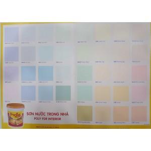 Bảng màu sơn nước nội thất Expo Poly