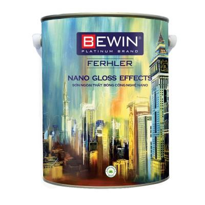 SƠN NGOẠI THẤT BÓNG CÔNG NGHỆ NANO  BEWIN - Ferhler NANO GLOSS EFFECTS - 5L