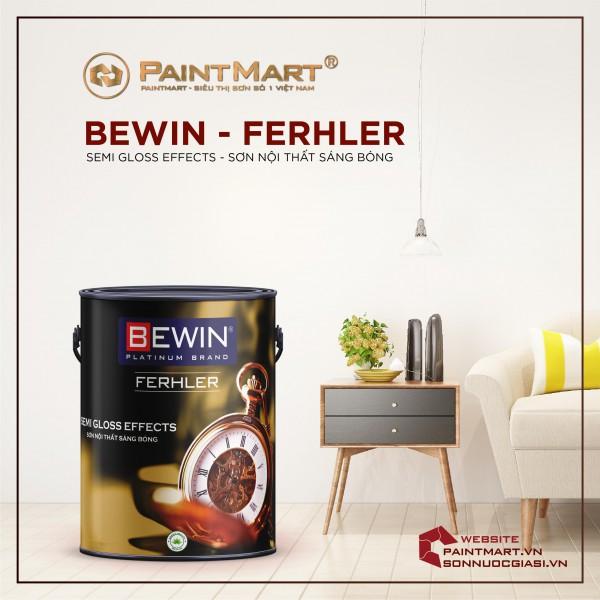 Sơn nội thất bóng lau chùi sang trọng SƠN BEWIN- Ferhler SEMI GLOSS EFFECTS