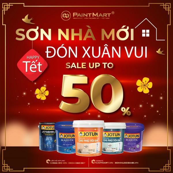 Giảm giá đến 50% các sản phẩm sơn Jotun chỉ tại Siêu thị Sơn Paint Mart