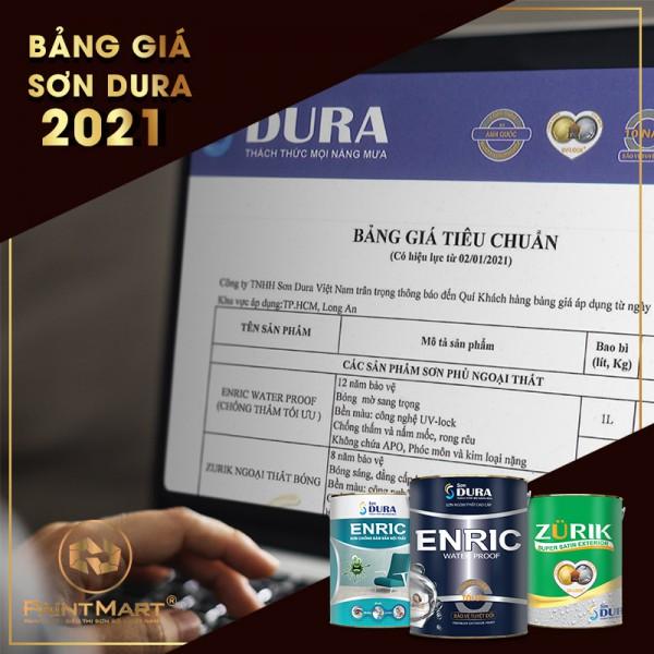Bảng giá sơn Dura năm 2021 - Tổng hợp các dòng sơn nổi bật của sơn Dura