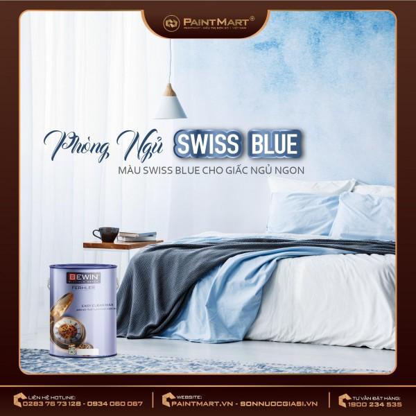 Chọn gam màu xanh thời thượng cho nội thất hiện đại - SWISS BLUE