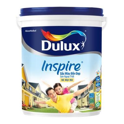 Sơn ngoại thất Dulux Inspire sắc màu bền đẹp bề mặt mờ 18L