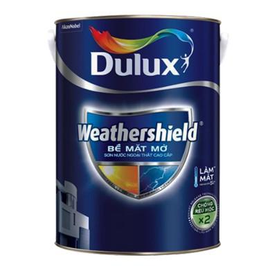 Sơn ngoại thất Dulux Weathershield bề mặt mờ BJ8 5L