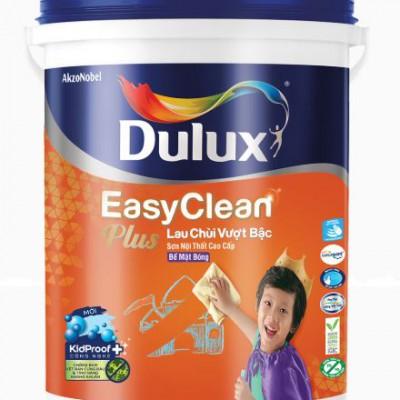 Sơn nội thất Dulux Easyclean lau chùi vượt bậc bề mặt bóng 74AB lon 5L