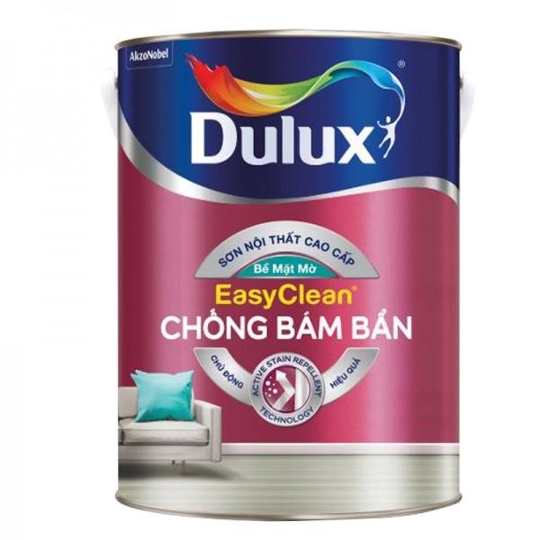 Sơn nội thất Dulux Easyclean chống bám bẩn bề mặt mờ lon 5L