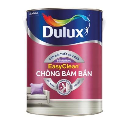 Sơn nội thất Dulux Easyclean chống bám bẩn bề mặt bóng lon 5L