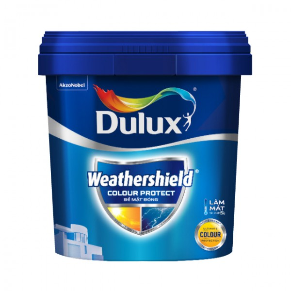 Sơn ngoại thất Dulux Weathershield Colour Protect bề mặt bóng E023 lon 1L
