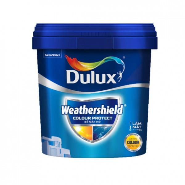 Sơn ngoại thất Dulux Weathershield Colour Protect bề mặt mờ E015 thùng 15L