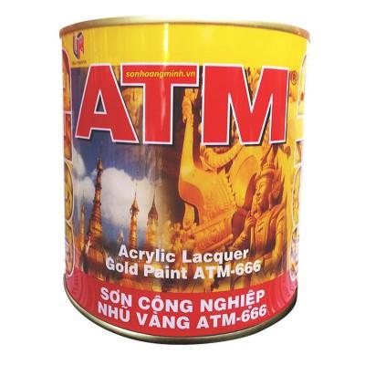 Sơn công nghiệp nhũ vàng ATM 666 - 875ML