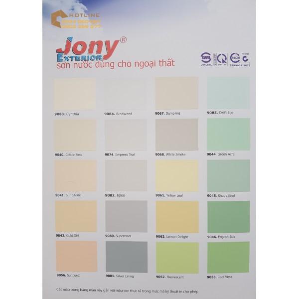 Bảng màu sơn ngoại thất Joton Jony