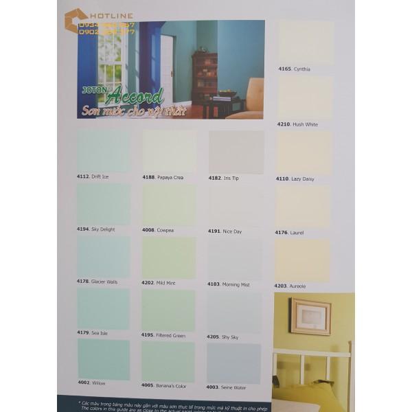 Bảng màu sơn nội thất Joton Accord