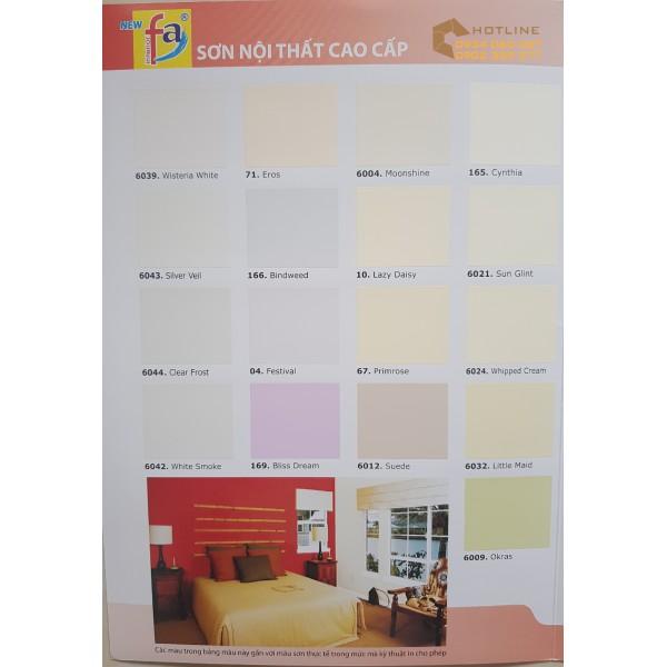 Bảng màu sơn nội thất Joton New FA