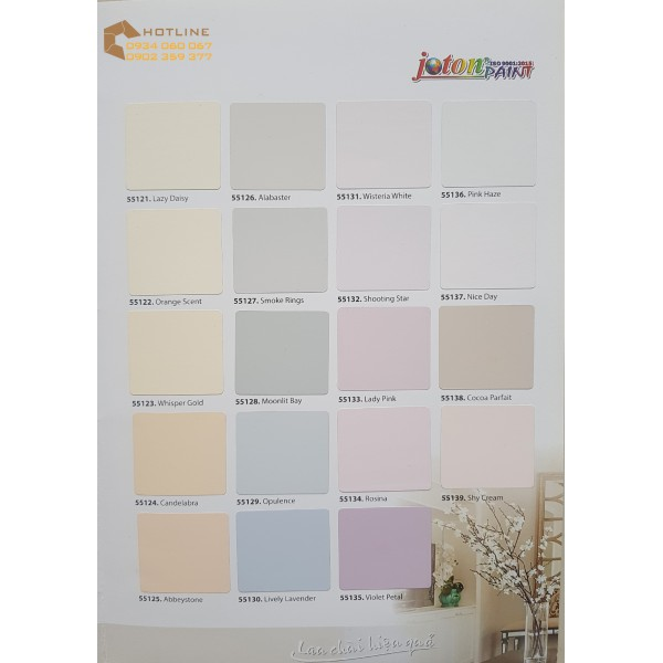 Bảng màu sơn nội thất Joton Senior