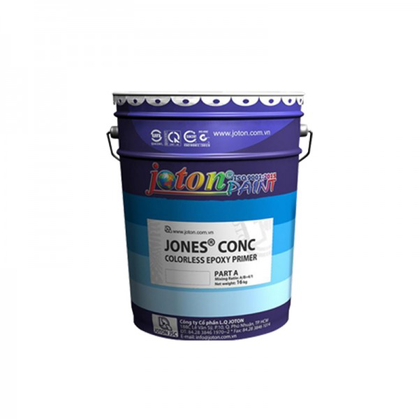 Sơn lót cho sơn Epoxy tự san phẳng JOTON JONES CONC - Màu Trong Suốt - 4kg