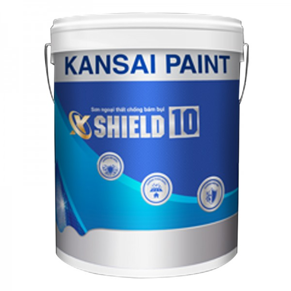 Sơn ngoại thất siêu hạng chống bám bụi Kansai X-Shield 10 - 1L