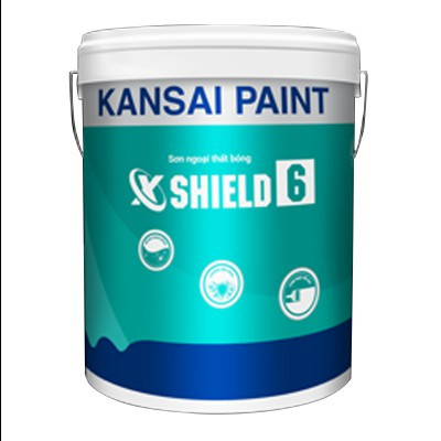 Sơn ngoại thất cao cấp Kansai X - Shield 6 (Siêu bóng) - 18L