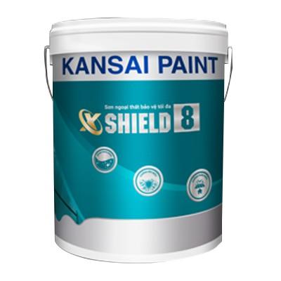 Sơn ngoại thất cao cấp co giãn Kansai X-Shield 8 ( Bóng ) - 18L