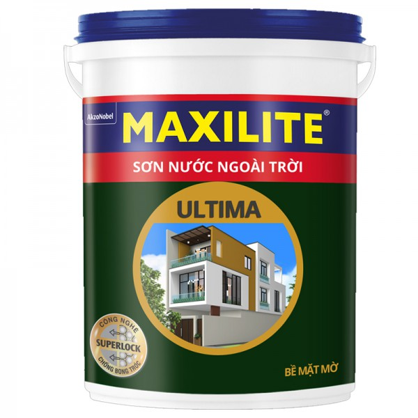 Sơn nước ngoài trời MAXILITE ULTIMA Bề mặt mờ LU2 - 18L