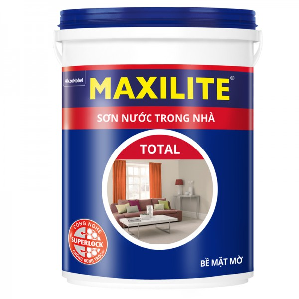 Sơn nước trong nhà MAXILITE TOTAL 30C Bề mặt Mờ - 18L