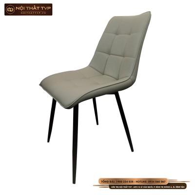Ghế Loft vuông, đệm bọc da cao cấp, chân sắt sơn tĩnh điện TVP - Grey