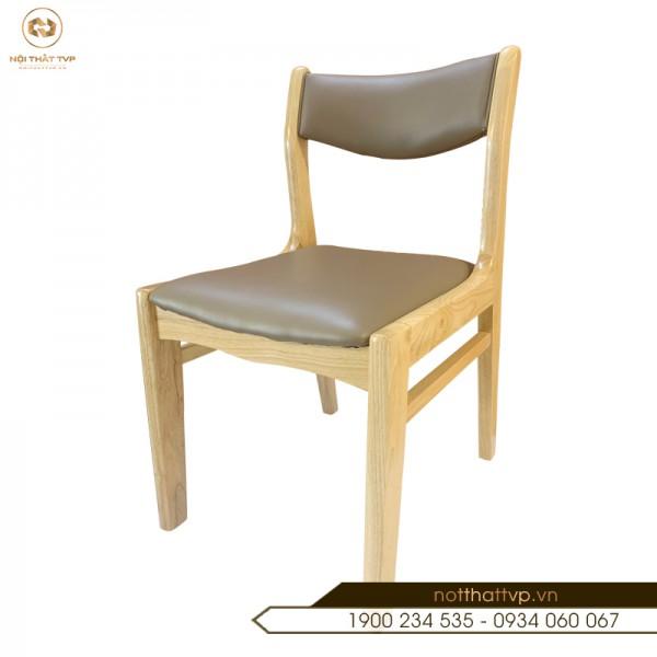 Ghế ăn BELLA gỗ cao su - đệm bọc da Hàn Quốc cao cấp TVP - 17