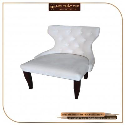 Ghế Charles cổ điển, khung gỗ cao su, bọc đệm mút TVP