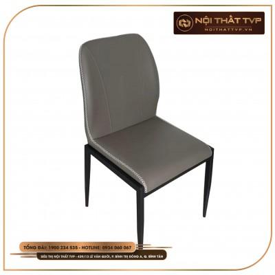 Ghế vuông bọc đệm, chân sắt phun sơn tĩnh điện cao cấp TVP - xám