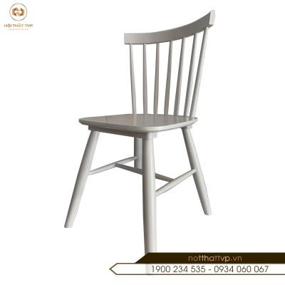 Ghế gỗ cao su Rio cao cấp TVP - White