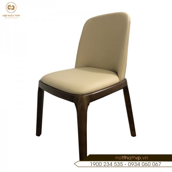 Ghế ăn Grace gỗ sồi Nga, đệm bọc da Hàn Quốc TVP-14