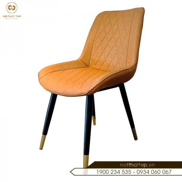 Ghế bàn ăn Loft trám chân inox mạ titan nhập khẩu cao cấp TVP-04 - Orange