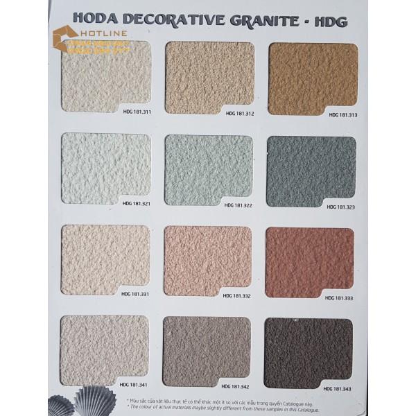 SƠN ĐÁ HOÀN THIỆN HODA DECORATIVE GRANITE – HDG- HGM-HDS-THÙNG 25KG