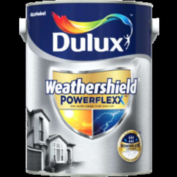 Sơn nước ngoại thất siêu cao cấp Dulux Weathershield Powerflexx bề mặt mờ-GJ8-lon 5L