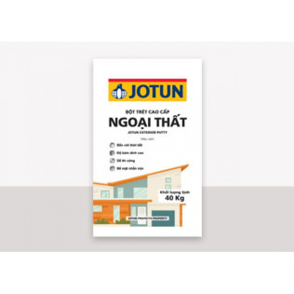 Bột trét tường ngoại thất Jotun Putty (Màu xám)
