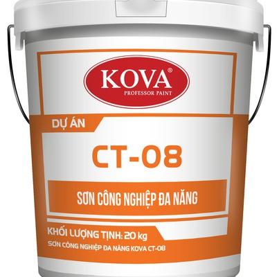 Sơn công nghiệp đa năng KOVA CT-08 không nhám màu đỏ thùng 5Kg