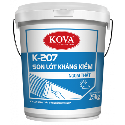 Sơn lót chống kiềm ngoại thất Kova K-207 thùng 5KG