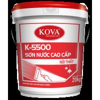 Sơn nước nội thất bán bóng cao cấp KOVA K-5500 THÙNG 20KG