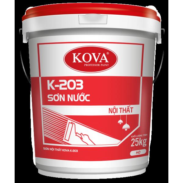 Sơn nước nội thất không bóng KOVA  K-203 THÙNG 25KG